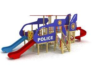 police heli 3D model