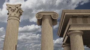 3D architectural modeled column