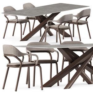 noss armchair star tavolo 3D