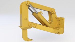 ripper bulldozer 3D model
