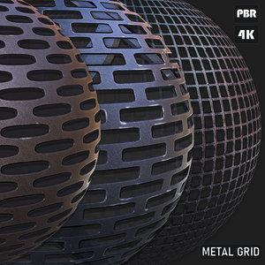 PBR Metal Grid textures
