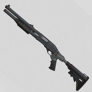 gun 870 shotgun 3D