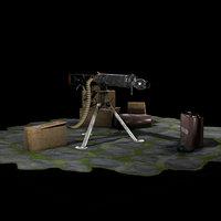 WW2 Vikers Machine GUN