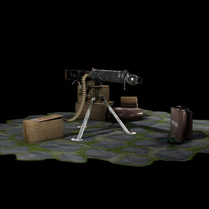 3D vickers machine gun 2 model