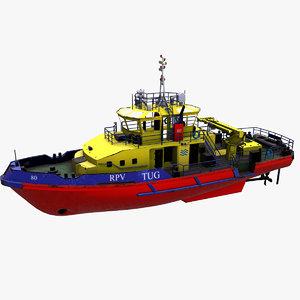 tugboat boat pbr model