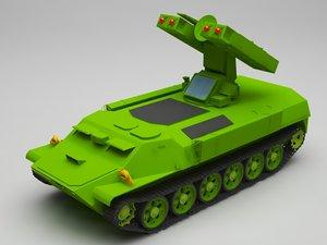 3D model military truck