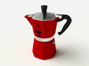 3D model italian coffee maker moka