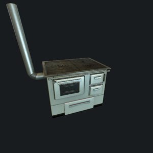 old stove 3D model