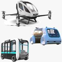 Three Autonomous Vehicles