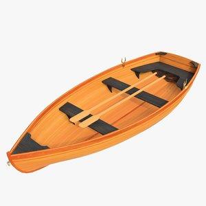 realistic boat 01 3D model