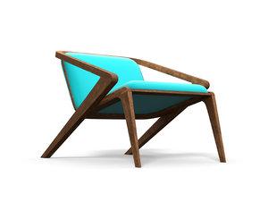 wooden home chair garden 3D