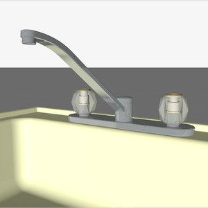 sink faucet kitchen 3D model