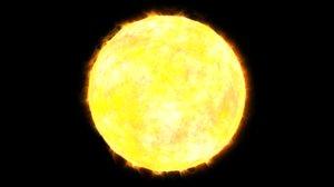 3D model sun soleil