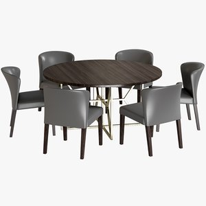 3D realistic dining table hayes
