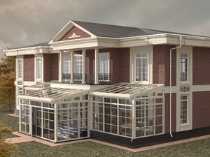 house victorian style 3D