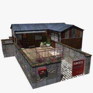 japanese townhouse 3D