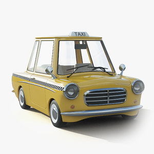 3D cartoon car toon model