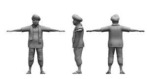 farmer village young man 3D model