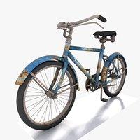 Toon Rusted Bicycle