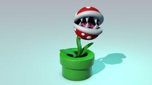 3D piranha plant model