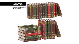 3D literature vintage books