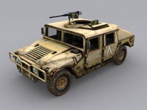 3D hmmwv humvee model
