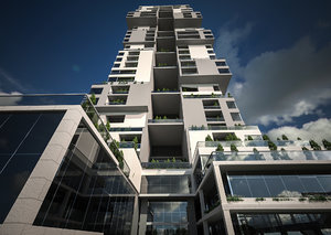 burj skyscraper 3D
