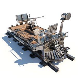 steampunk handcar 3D model