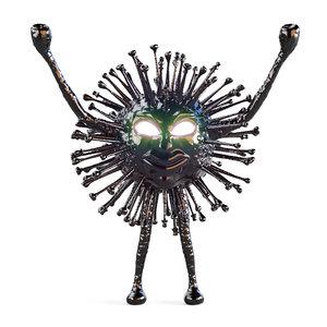 corona black monster coronavirus 3D model