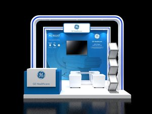 3D booth 3x2 5 model