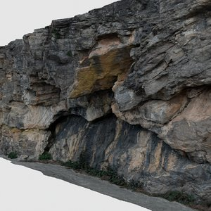 scan rock wall 3D model