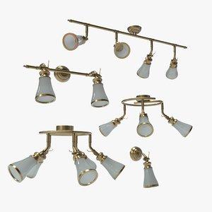 italy spot lamp vento 3D model