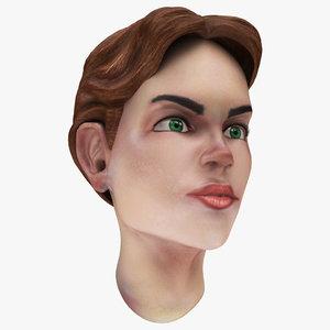 famale head 3D model