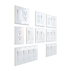 power outlet electrical light 3D