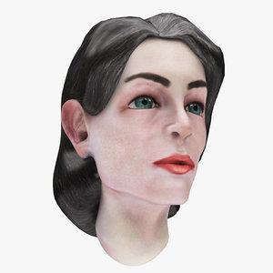 3D famale head 03