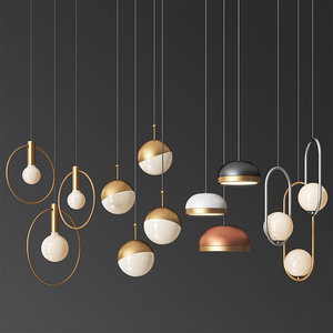 hanging light set 07 3D