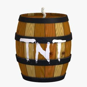3D tnt barrel - donkey kong