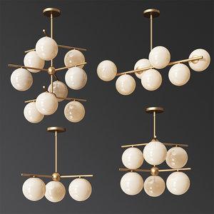westelm sphere stem chandelier model