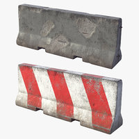 2 Concrete Barriers HD