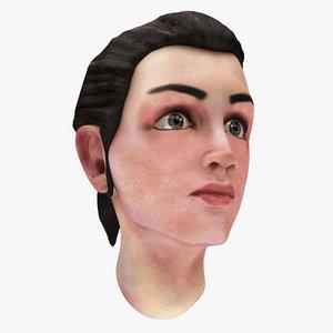 famale head 01 3D