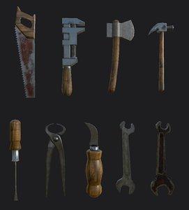 3D vintage tools