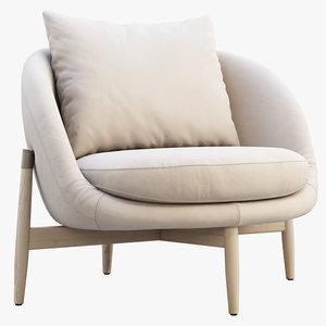 3D linteloo heath armchair chair