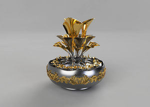3D model decorative flower vase