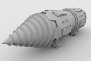 underminer s drill 3D model