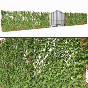 ivy fence gate 3D
