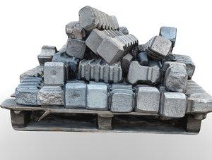 3D pallet concrete products model
