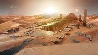 Ancient sci-fi city kitbash set