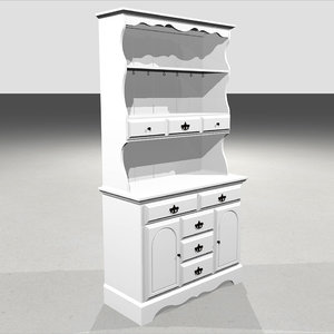 hutch country drawers 3D