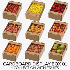 3D cardboard display box 01