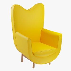 3D sofa furnishings furniture